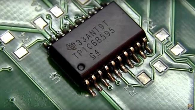 PCB display de 7 segmentos serie