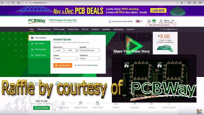 Sorteo patrocinado por PCBWay