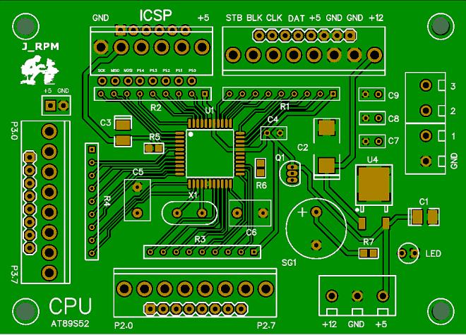 PCB: CPU del Reloj SERIE (Modificada)