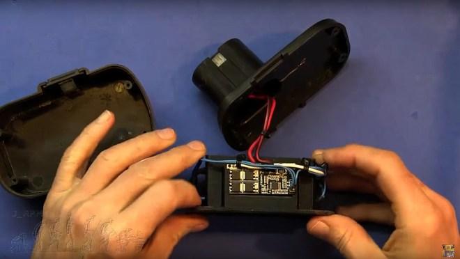 Circuito de protección y carga montado
