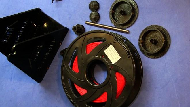 Piezas necesarias para el soporte de filamento