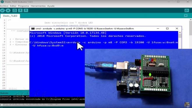 Programando FUSES de ATmega8A