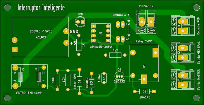 PCB: Interruptor inteligente
