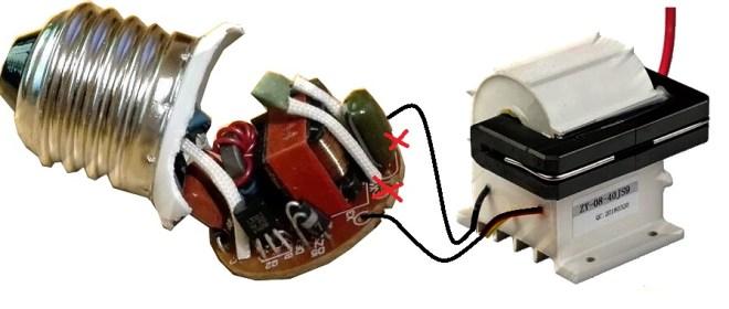 Generador de alta tensión, con un balastro y un transformador Flyback