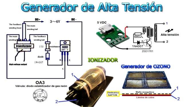 Esquema: Ionizador & Generador de Ozono