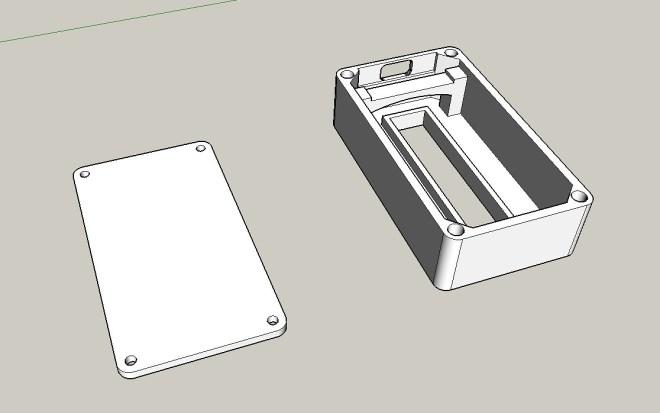 Caja 3D, para el PCB de 8 dígitos LED de 7 segmentos