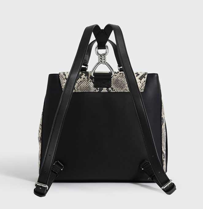 SILVER SUEDE BACKPACK