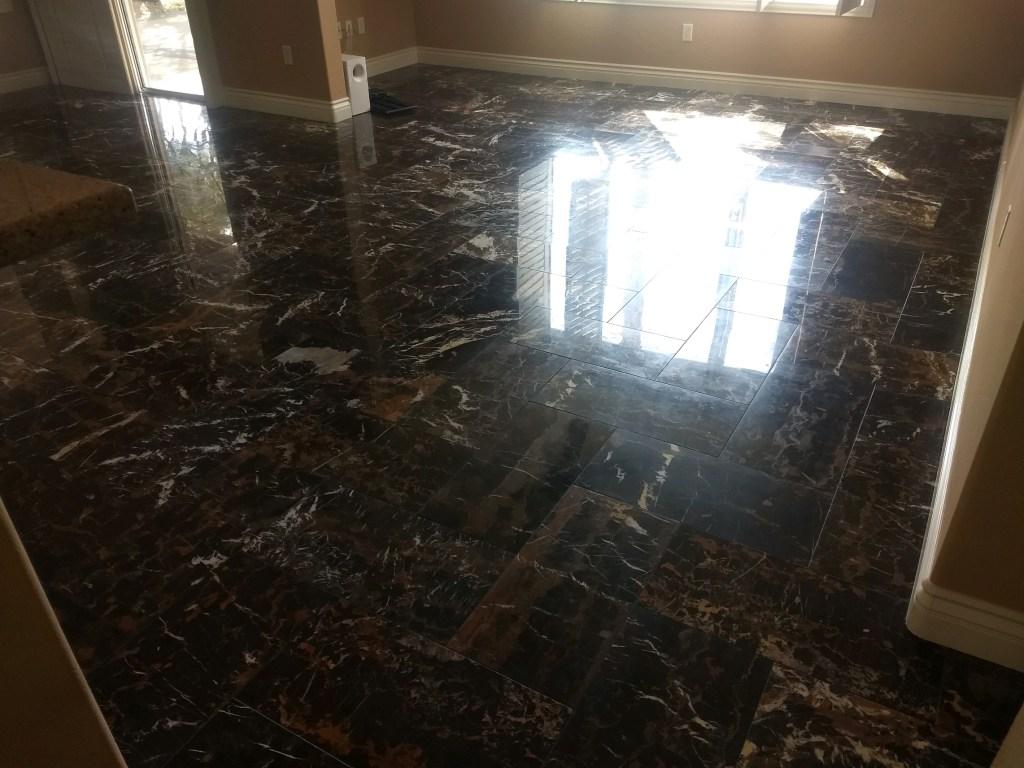 Display floor polishing