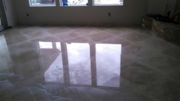 After Travertine Tile Polishing by J2 Cleaning Las Vegas for a beautifully polished floor.