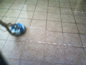 J2 Tile and Grout Cleaning Las Vegas in progress. Best tile cleaning Las Vegas has to offer.