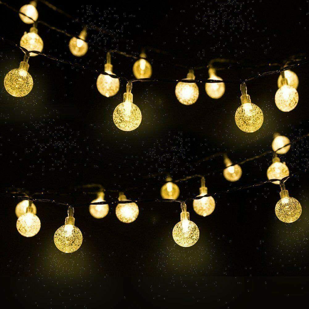 solar string lights 30 led 21ft solar patio lights warm white