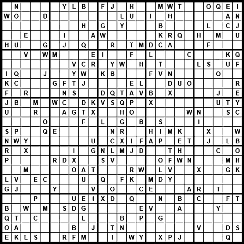 Sudoku Letters And Number Puzzles | Poemsrom.co