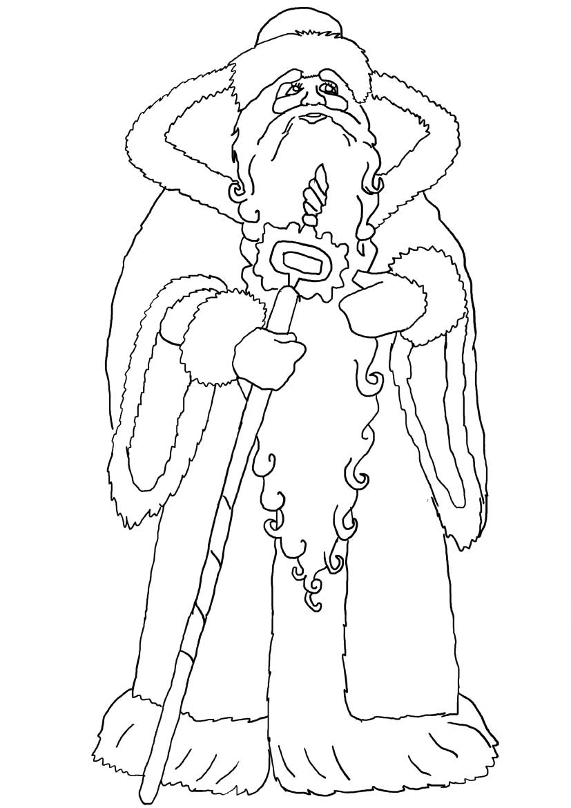 ded moroz colouring pages
