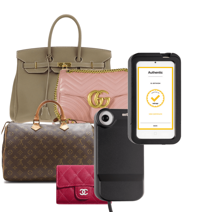 Entrupy mobile authentication solution for luxury handbags