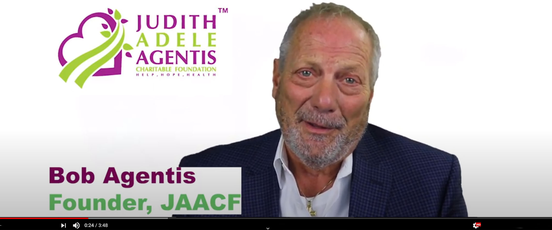 A brief history of the Judith Adele Agentis Charitable Foundation