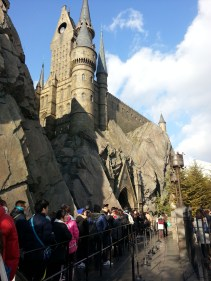 Queue to the Harry Potter ride