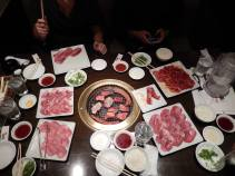 Yakiniku is a place where all you meat lovers go to heaven (at least that's how it's been described to me). Apparently you can go to a restaurant where you can either eat red meat or chicken. You just pay something around 3000 yens and eat as much as you can.