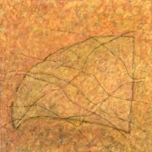 Graanveld 3, olieverf 100 x 100 cm