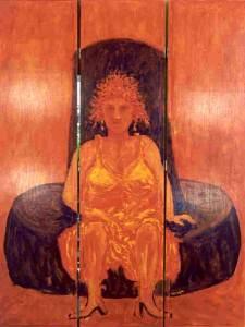 Kamerscherm A, acryl 220 x 150 cm