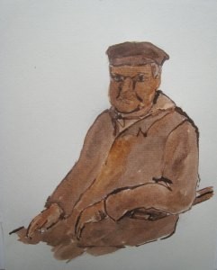 Klepperman 2 - sepia, 25 x 20 cm