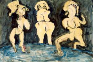 Mademoiselles Les-Lacs, acryl 70 x 100 cm