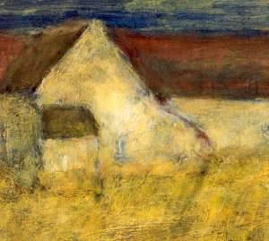 Maison Les Lacs, acryl 40 x 40 cm