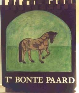"""Uithangbord """"t' bonte paard"""" Laren"""