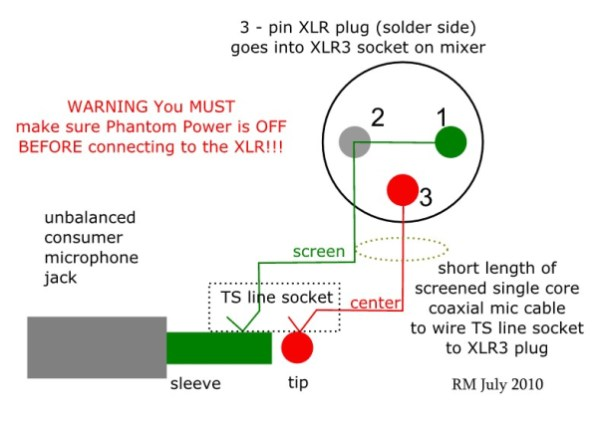 How to Wire an Unbalanced Microphone To A Balanced XLR