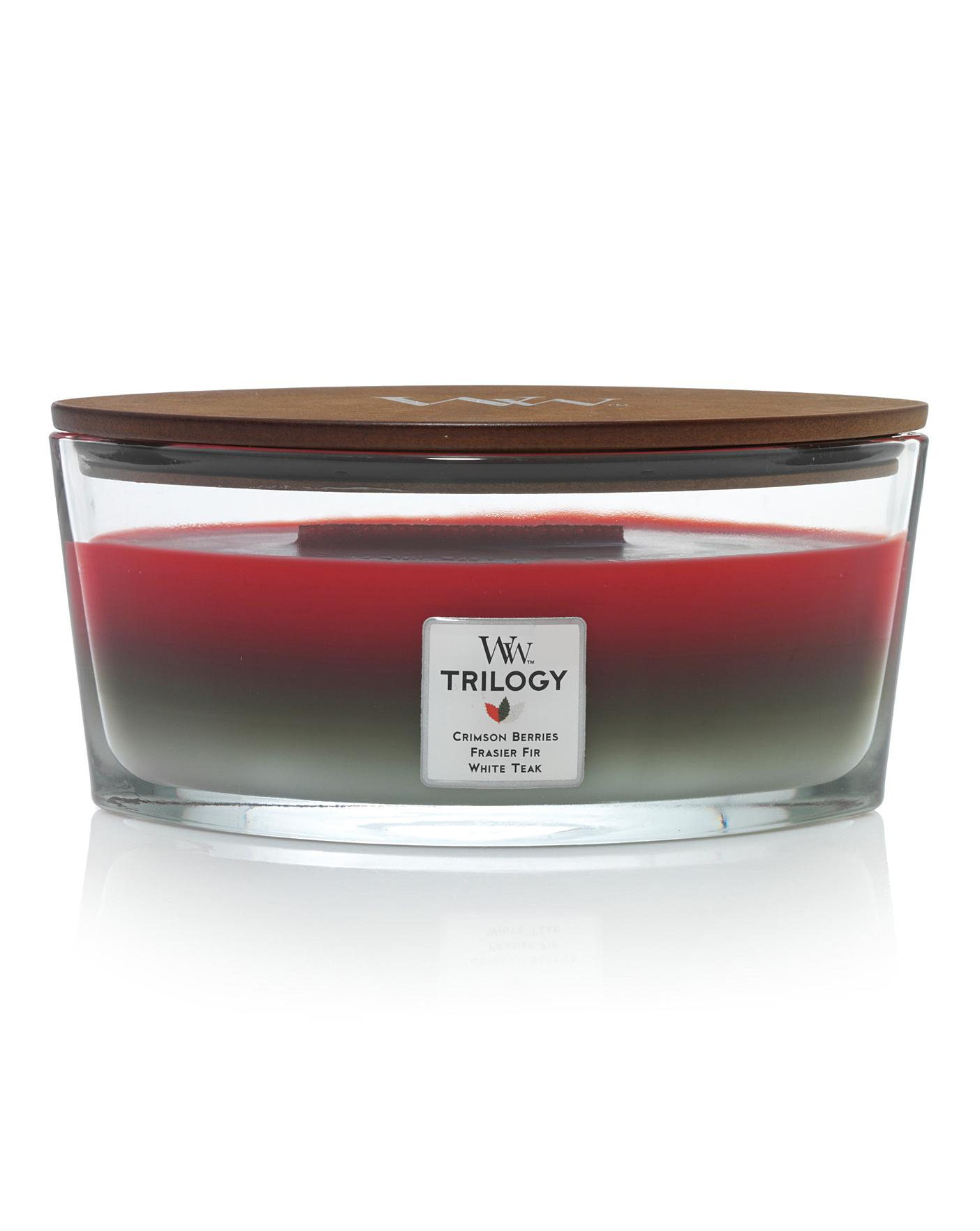 WoodWick Winter Garland Ellipse Trilogy Candles Review