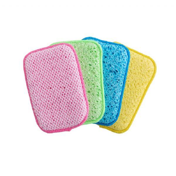 Lynsey Queen of Clean Scrub & Wipe Sponge 4pk