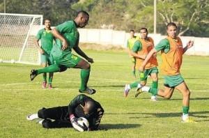 Jamaican national football team training to face Panama