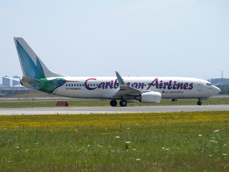Caribbean Airlines, plane grounded
