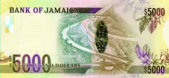 Jamaican 5000 dollar bill, Jamaican money