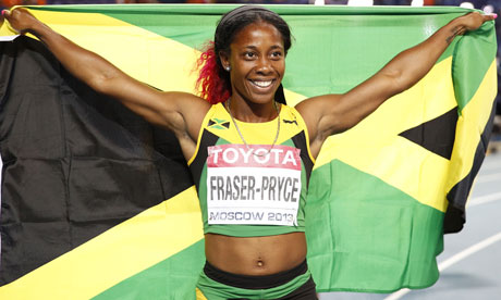 Shelly ann fraser moscow, iaaf 2013, Jamaica IAAF