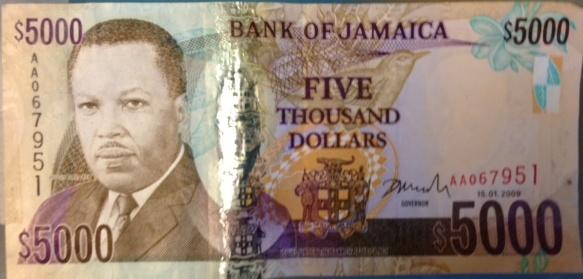 Jamaican money is weak