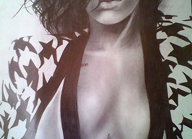 most beautiful picture depiction drawing of Rihanna RiRi