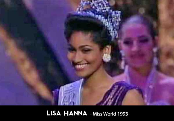 Lisa Hannah won miss world in 1993 for Jamaica in South Africa