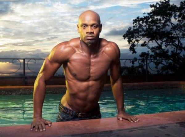 Asafa Powell modelling pictures