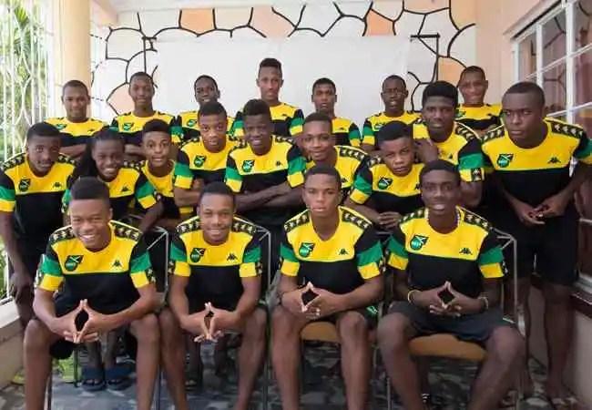 Jamaica National U-17 Squad via jamaicafootballfederation.com