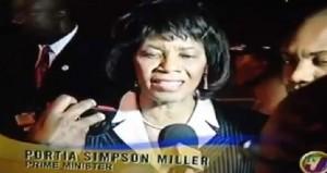 Prime Minister Portia Simpson Miller - Image via Television Jamaica