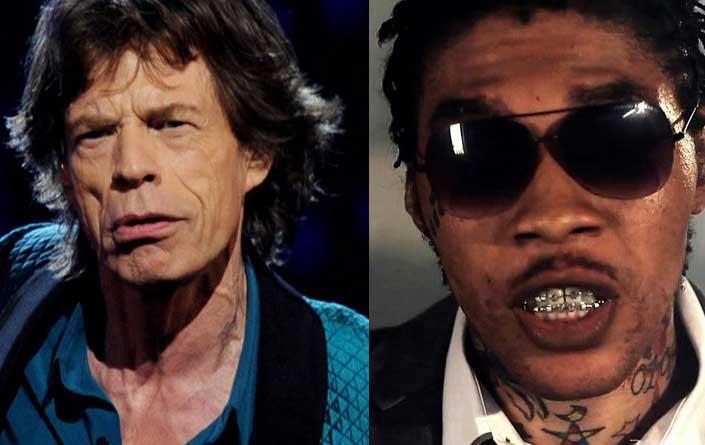 Mick Jagger Image via biography.com - Vybz Kartel Image via 22tracks.com