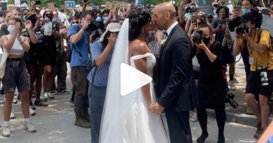 (WATCH) Jamaican Woman Gets Married Amid Mass Protest In Philadelphia