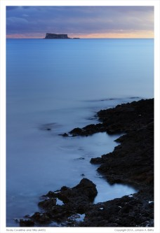 Rocky Coastline and Filfla. (Click on the photo for added detail.)