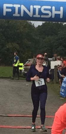 J A Browne running the Cheshire Half Marathon