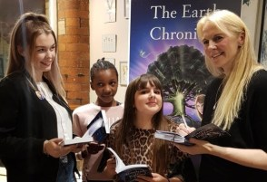 J A Browne meeting her readers at the launch of Hannah and the Hollow Tree