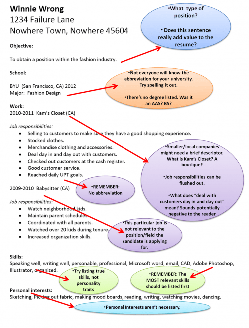 Bad Resume Example. sample 1 e1337146452310. sample nursing and ...