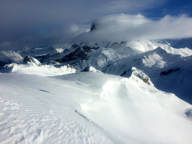 Vista desde el Pico Astún, hacia el Midi d'Ossau