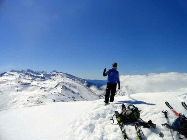 Aquí estoy yo en la cima del Belonseiche