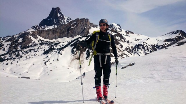 Jose Carlos, en la cima del Pico Astún