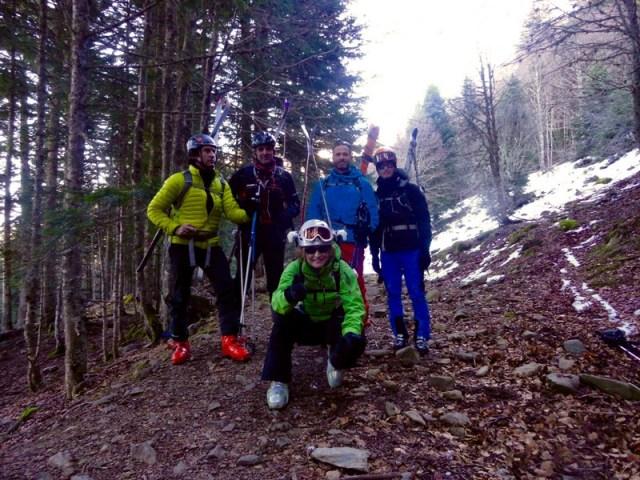 Foto de grupo en el sendero